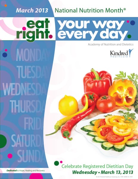 kindred embraces national nutrition month through education and