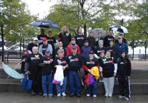 The 2011 Kindred Heart Walk Team showed great dedication and walked through the rain!