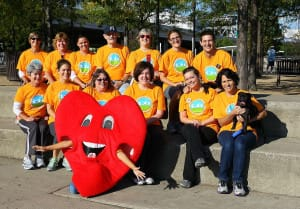 The 2012 Kindred Support Center Heart Walk team.