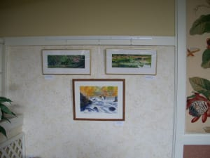 A small sample of Kindred Assisted Living - Avery Crossings' art gallery is showcased above.