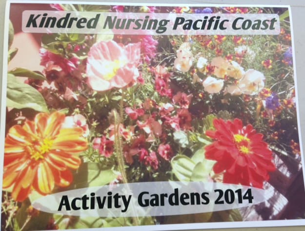Kindred Nursing and Transitional Care – Pacific Coast's 2014 Activity Gardens calendar.