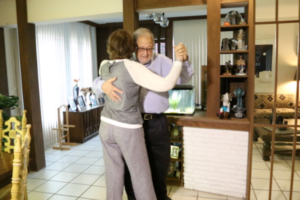 image of Sharon and her husband dancing